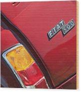 1971 Fiat 500 Jolly Taillight Wood Print