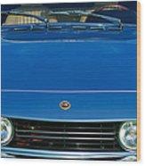 1971 Fiat Dino 2.4 Grille Wood Print by Jill Reger