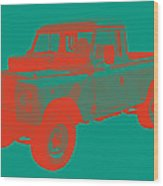 1971 Land Rover Pick Up Truck Modern Art Wood Print