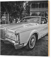 1971 Lincoln Continental Mark IIi Painted Bw   Wood Print