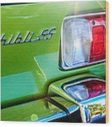 1971 Maserati Ghibli 4.9 Ss Spyder Taillight Emblem -0187c Wood Print