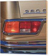 1971 Mercedes-benz 280se 3.5 Cabriolet Taillight Emblem Wood Print