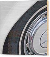 1971 Mercedes-benz Wheel Emblem Wood Print