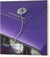 1971 Plum Crazy Purple Plymouth 'cuda 440 Wood Print by Gordon Dean II