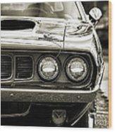 1971 Plymouth Cuda 383 Wood Print