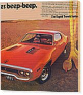 1971 Plymouth Road Runner Wood Print