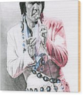 1971 Turquoise Concho Suit Wood Print