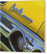 1972 Chevrolet Chevelle Taillight Emblem Wood Print