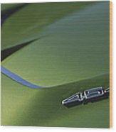 1972 Chevrolet Corvette Convertible Stingray 454 Hood Wood Print