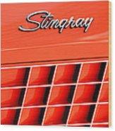 1972 Chevrolet Corvette Stingray Emblem 3 Wood Print
