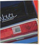 1972 Chevrolet Nova Ss Taillight Emblem -0355c Wood Print