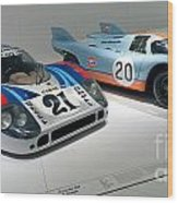 1972 Porsche 917 Lh Coupe And 1970 Porsche 917 Kh Coupe Wood Print