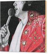 1972 Red Pinwheel Suit Wood Print