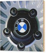 1973 Bwm 3.0 Csl Wheel Emblem Wood Print