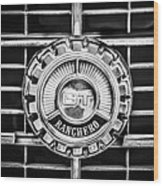 1973 Ford Ranchero Grille Emblem -0769bw Wood Print