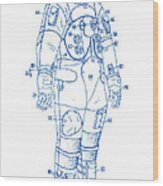 1973 Nasa Astronaut Space Suit Patent Art 2 Wood Print
