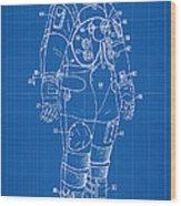 1973 Nasa Astronaut Space Suit Patent Art Wood Print