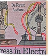 1973 Progress In Electronics Stamp Wood Print