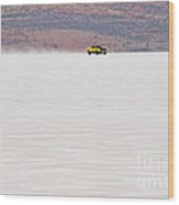 1973 Xa Ford Coupe On The Salt At Full Throttle Wood Print