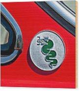 1974 Alfa Romeo Gtv Emblem  Wood Print