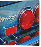 1974 Ferrari Dino Targa Gts Taillight Emblem Wood Print