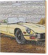 1974 Jaguar Xke Illustration Wood Print