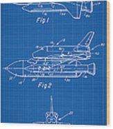 1975 Nasa Space Shuttle Patent Art 1 Wood Print