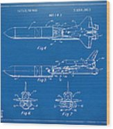 1975 Space Vehicle Patent - Blueprint Wood Print by Nikki Marie Smith