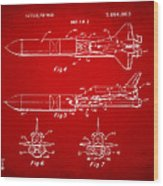 1975 Space Vehicle Patent - Red Wood Print