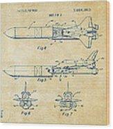 1975 Space Vehicle Patent - Vintage Wood Print