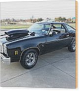 1976 Chevy Malibu Modified Muscle Car Wood Print