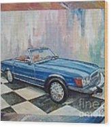 1976 Mercedes-benz 450 Sl Wood Print