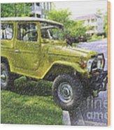 1976 Toyota Landcruiser Wood Print