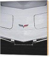 1977 White Corvette Wood Print
