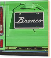 1977 Ford Bronco Taillight Wood Print
