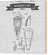 1977 Lacross Stick Patent Drawing - Retro Gray Wood Print