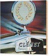 1979 Clenet Hood Ornament -176c Wood Print