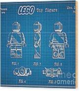 1979 Lego Minifigure Toy Patent Art 1 Wood Print