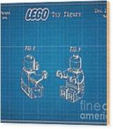 1979 Lego Minifigure Toy Patent Art 3 Wood Print
