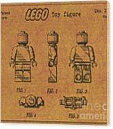 1979 Lego Minifigure Toy Patent Art 4 Wood Print