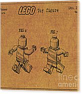 1979 Lego Minifigure Toy Patent Art 5 Wood Print