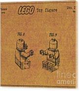 1979 Lego Minifigure Toy Patent Art 6 Wood Print