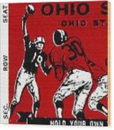 1979 Ohio State Vs Wisconsin Football Ticket Wood Print