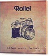 1979 Rollei Camera Patent Art 1 Wood Print