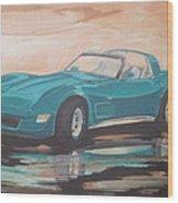 1980 Chevrolet Corvette/reflections Wood Print