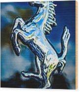 1980 Ferrari 308 Gtsi Emblem -0048c Wood Print