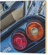 1980 Ferrari 308 Gtsi Taillight Emblem -0036c Wood Print