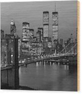 1980s New York City Lower Manhattan Wood Print