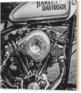 1981 Hd Tank And Motor Wood Print