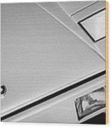 1982 Lamborghini Countach 5000s Hood Emblem -1518bw Wood Print